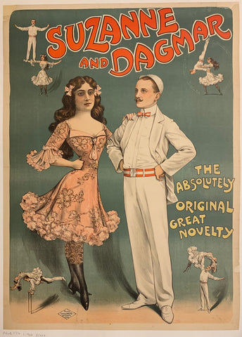 Poster of the gymnastic troupe Suzanne and Dagmar.