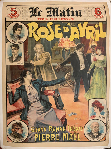 Rose D'Avril Grand Roman Inédit Pierre Maël - Poster Museum