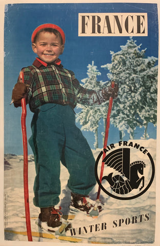 France Winter Sports Travel Poster