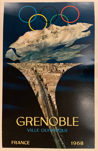 Grenoble Ville Olympique Poster