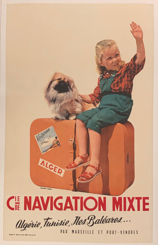 Cie Navigation Mixte Travel Poster