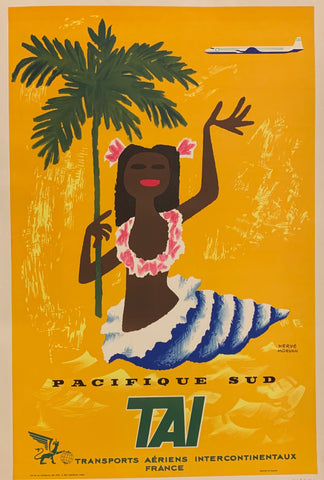 Pacifique Sud TAI Travel Poster