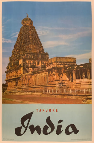 Tanjore India Travel Poster