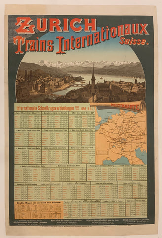 Zurich Trains Internationaux Poster