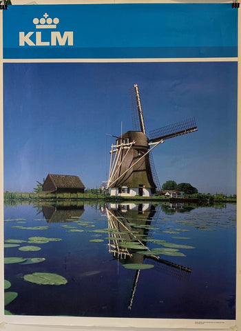 "KLM Airlines Travel ""Windmill"" - Poster Museum"