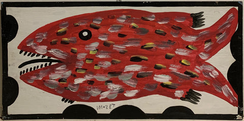 Red Fish Mose Tolliver Painting