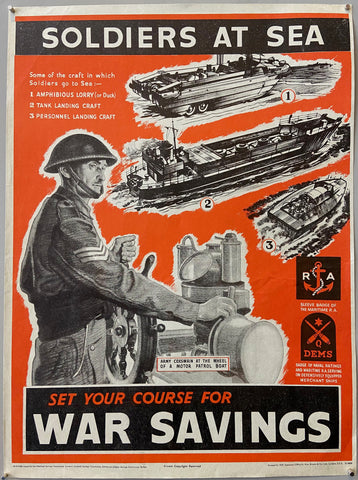 Set Your Course For War Savings Poster