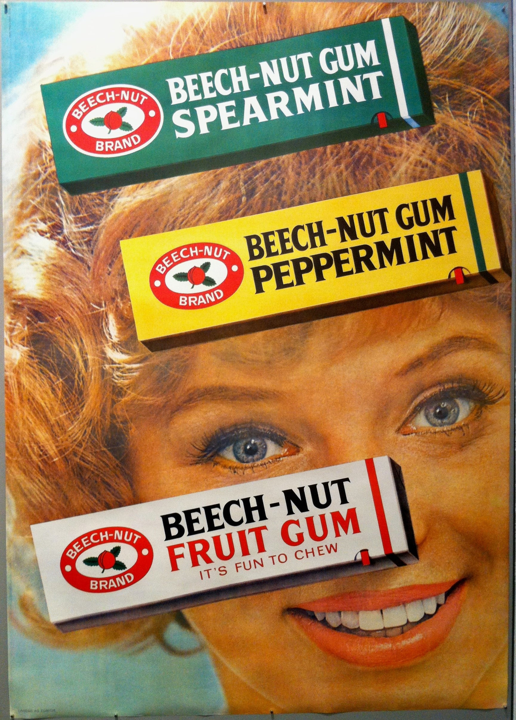 Beech-Nut Gum Spearmint/Peppermint/Fruit Gum