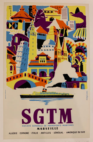 SGTM Marseille Travel Poster