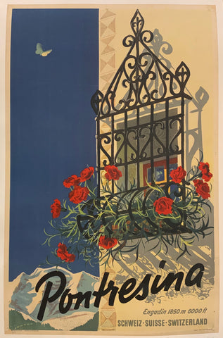 Pontresina Travel Poster