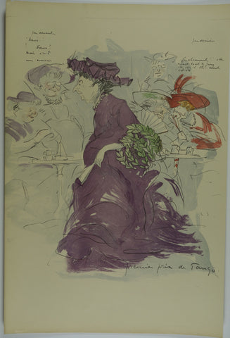 Purple Dress Lithograph