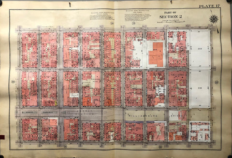 New York Atlas of Manhattan Plate 17