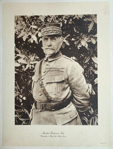 Marshal Ferdinand Foch, Commander in Chief of the Allied Armies - Poster Museum