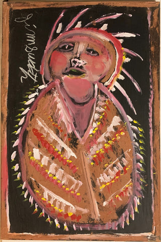 Native American Chief #94, Jimmie Lee Sudduth Painting