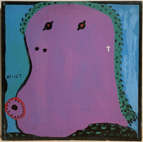 Purple and Green Self Portrait Mose Tolliver Painting