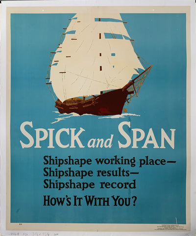 Spick and Span Mather Poster