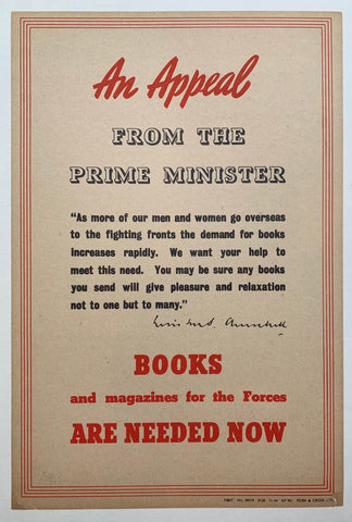 An Appeal from the Prime Minister