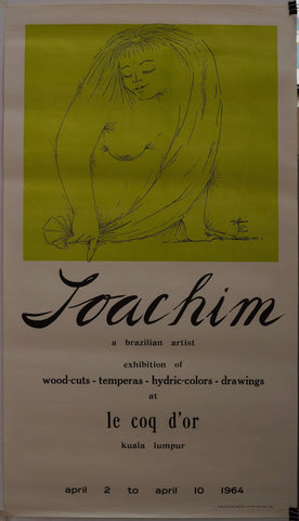 Joachim a Brazilian Artist Exhibition of Wood-Cuts, Temperas, Hydric Colors, Drawings. At Le Coq d'or.