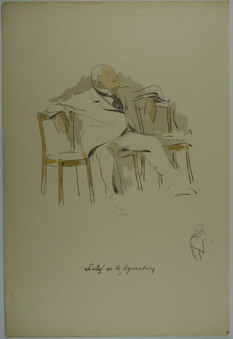 le chef de la figuration Lithograph