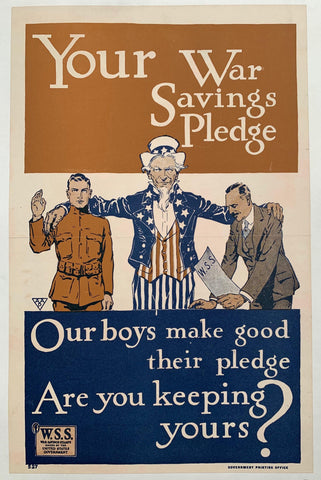 Your War Savings Pledge - Poster Museum