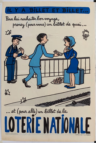 French Lottery Poster - Bon Voyage