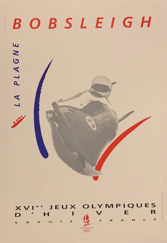 1992 Olympics Bobsleigh Poster