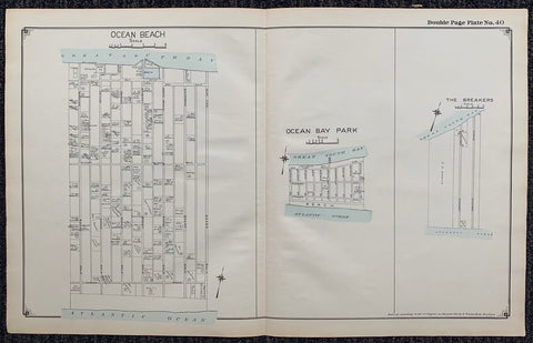 Long Island Index Map No.2 - Plate 40 Ocean Bay Park