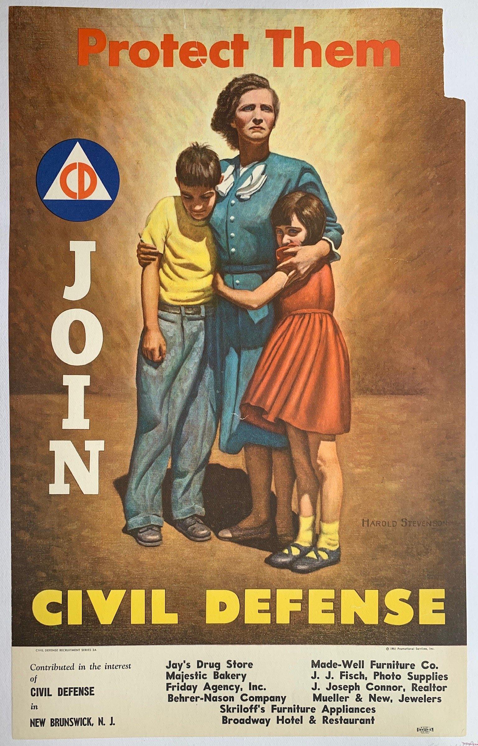 Protect Them, Join Civil Defense - Poster Museum