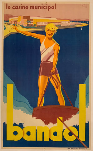 Le Casino Municipal Bandol Travel Poster