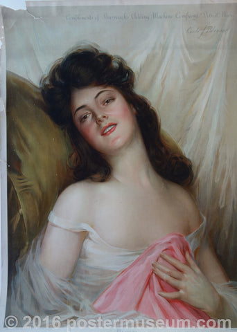 Woman blushing with Pink Blanket