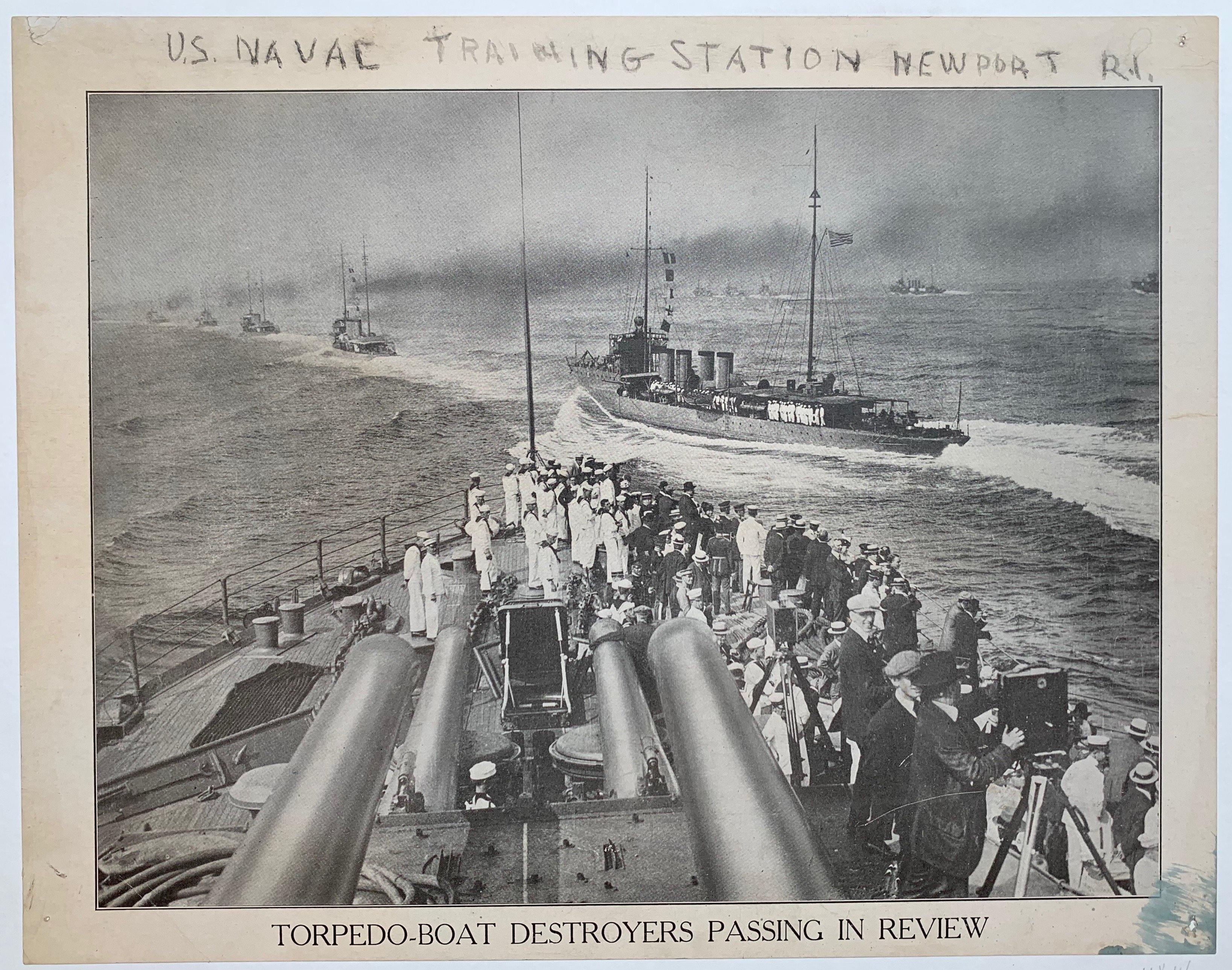 Torpedo boat Destroyers Passing in Review