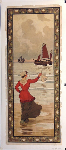 Woman Waving at Sail Departing