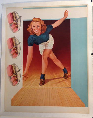 Ice Cream Bowling Girl - Poster Museum