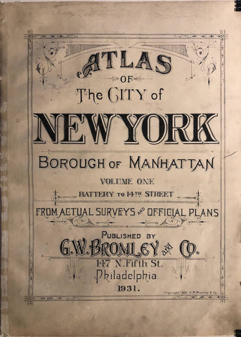 New York Atlas of Manhattan