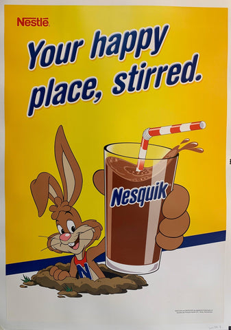 """Your happy place, stirred"" Nesquik"