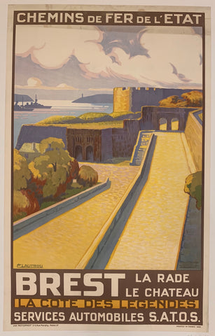 Brest French Travel Poster