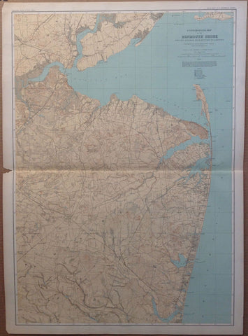 A Topographical Map of the Monmouth Shore