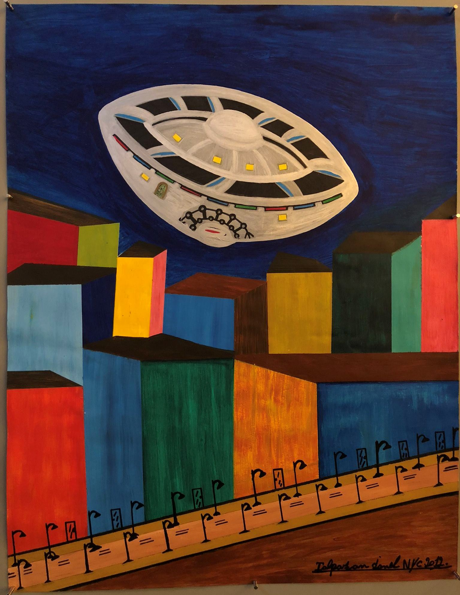 Ionel Talpazan - UFO flying over New York City highway