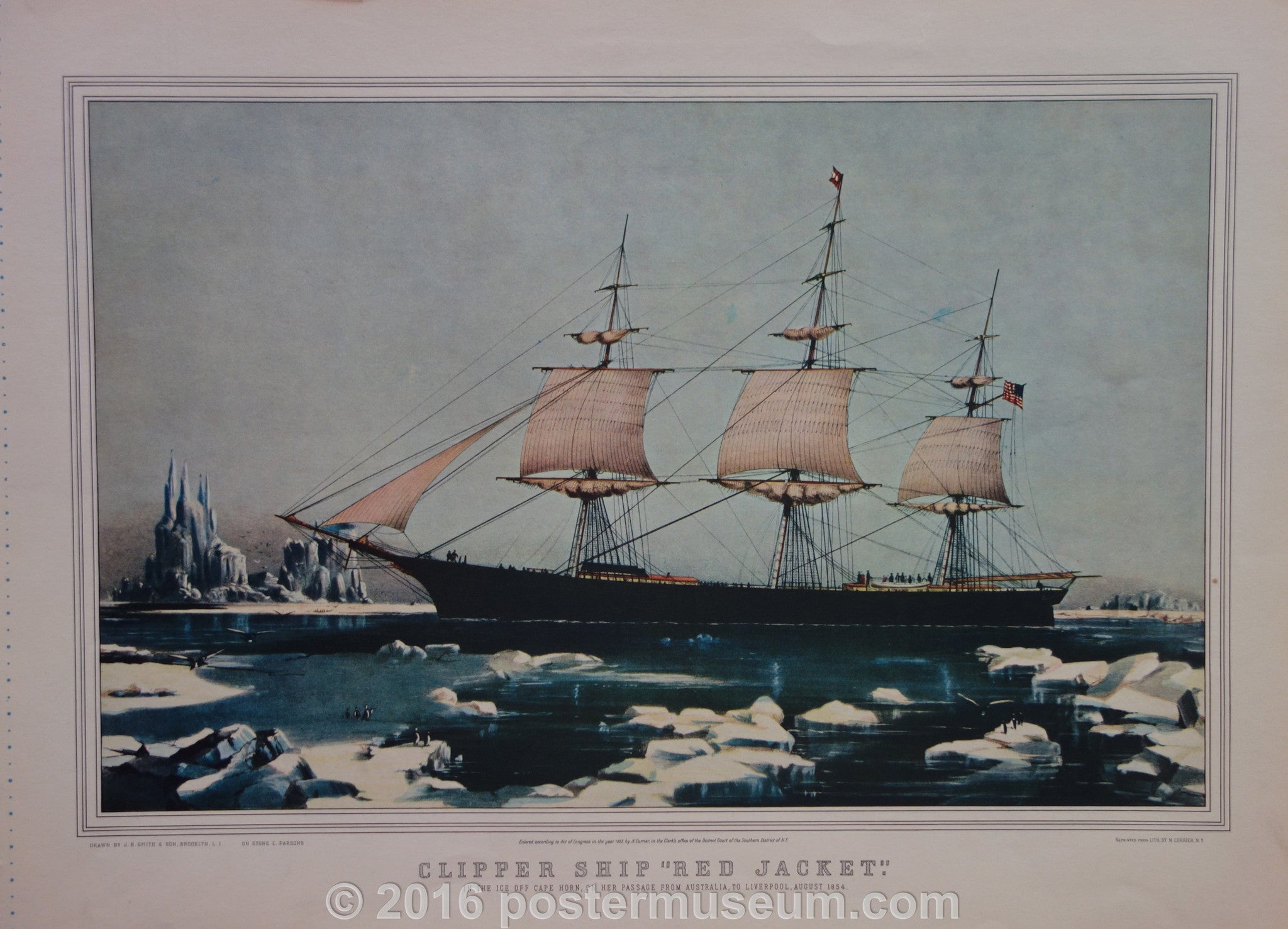 "Clipper Ship ""Red Jacket"""