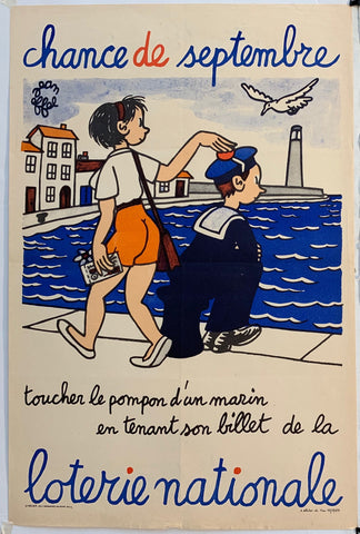French Lottery Poster - Sailor Pompom