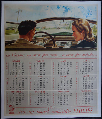 1953 Calendar Philips Radio