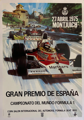 Poster of a formula 1 competition