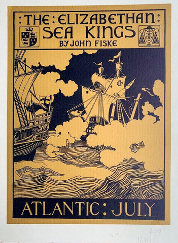 The Elizabethan Sea Kings by John Fiske -- Atlantic: July - Poster Museum