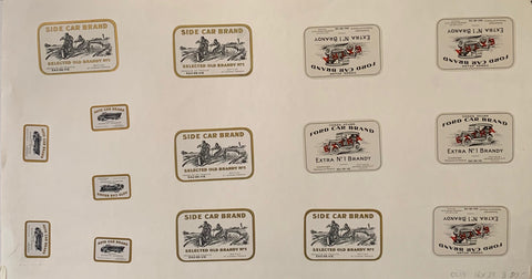 Side Car/Ford Car Brand Labels