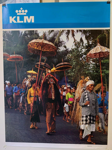 "KLM Airlines ""Indonesia"" - Poster Museum"