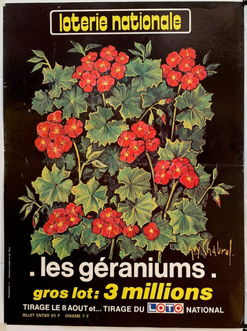 "Loterie Nationale - ""Les Geraniums"""