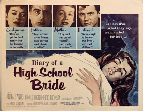 Diary Of A High School Bride Film Poster