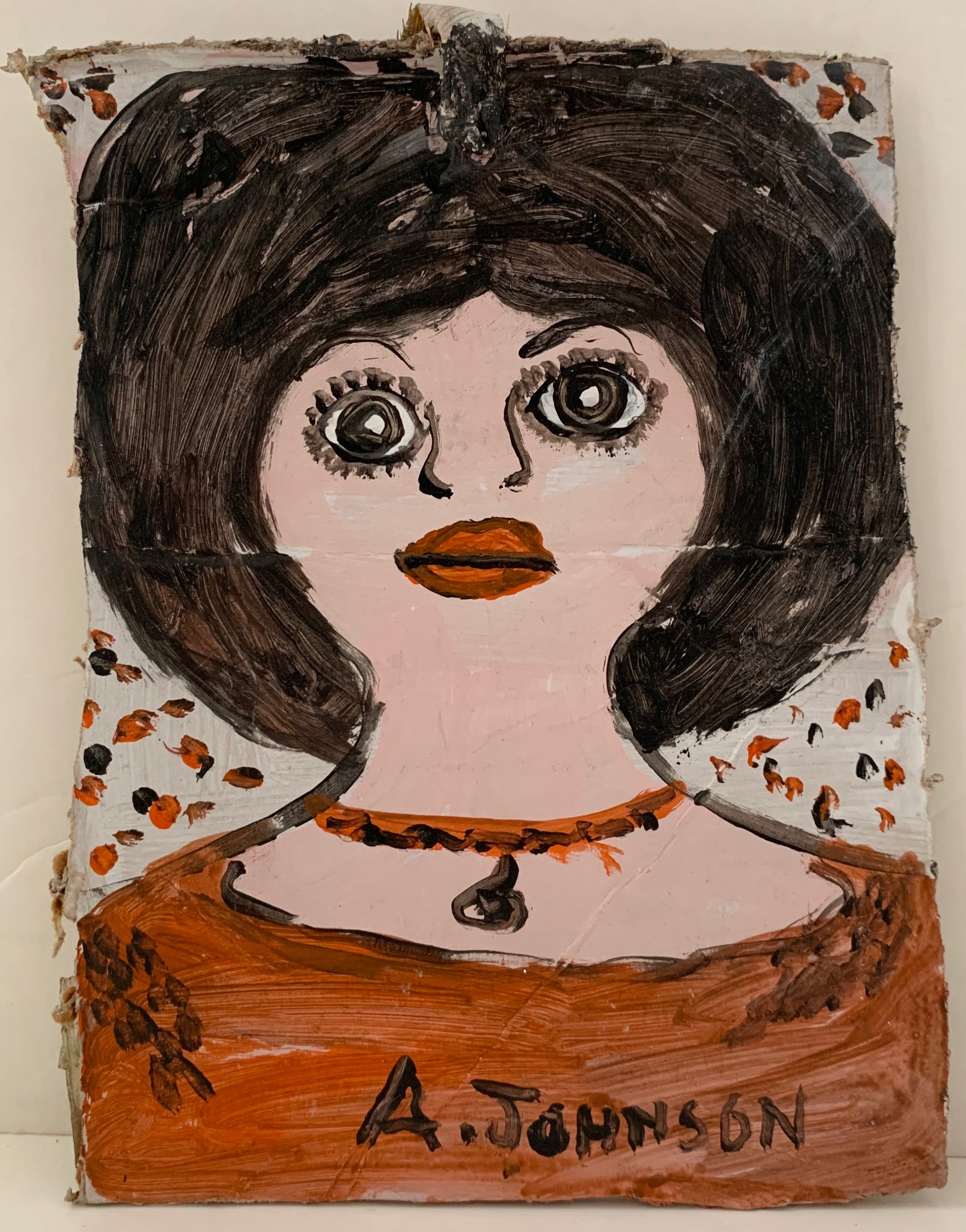 Big-Eyed Woman Anderson Johnson Painting