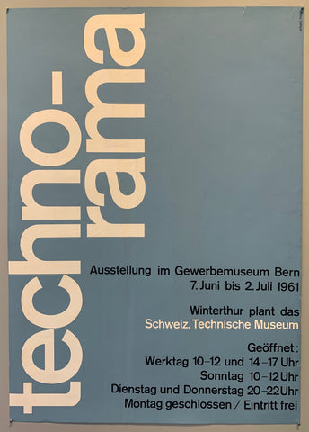 Poster for an exhibit at the Swiss Technical Museum in 1961.
