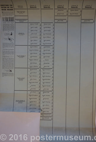 Directions for voting on the voting machine
